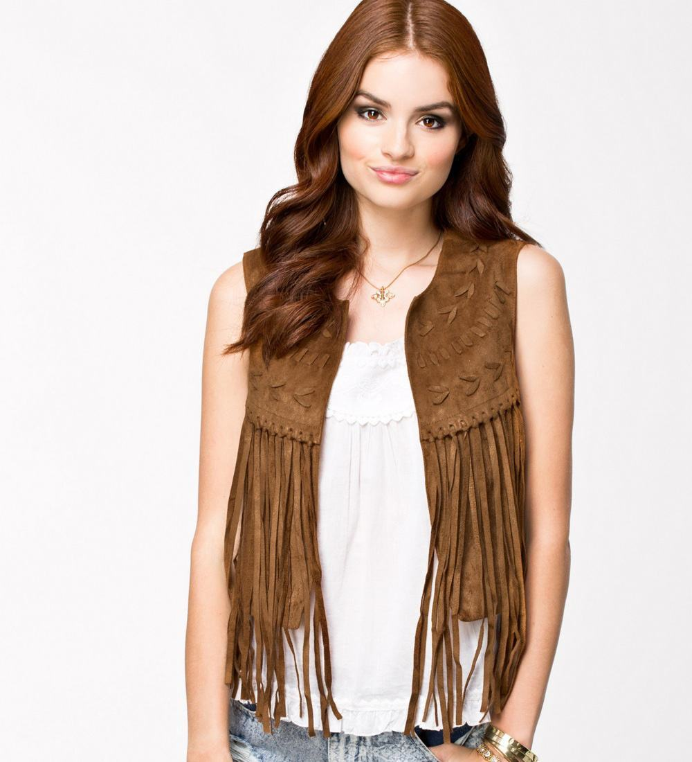 Playful Leather Vest